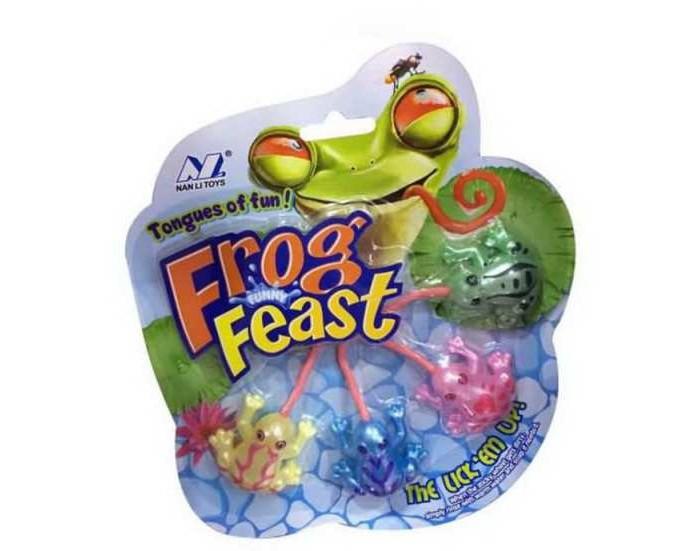 Развивающие игрушки Junfa Игрушка-лизун Лягушки Frog Feast