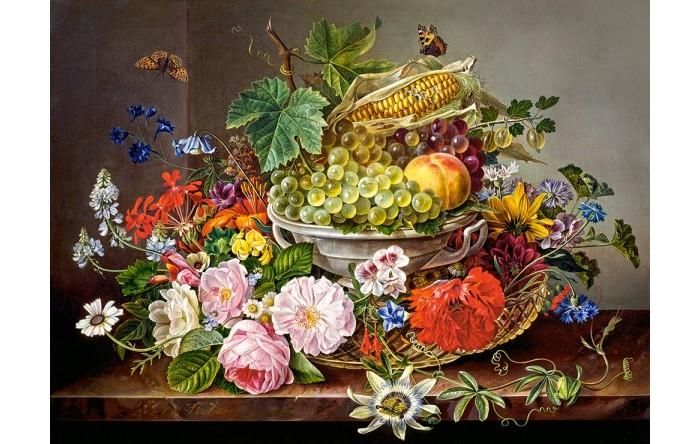 Castorland Пазлы Натюрморт с цветами и фруктами (2000 деталей)
