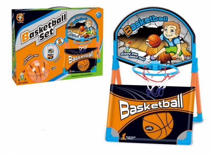 Спортивный инвентарь YG Sport Набор баскетбольное кольцо и мяч 10 см