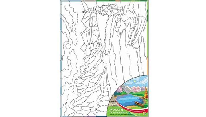 Раскраски Рыжий кот Холст с красками Горы у озера 30х40 см наборы для рисования белоснежка живопись на холсте 30х40 см ноктюрн с подсолнухами