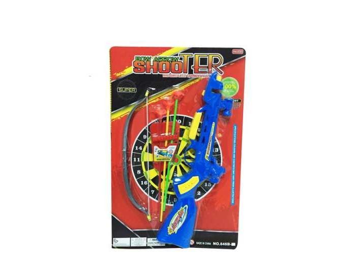 Игрушечное оружие Junfa Лук-арбалет с 3 стрелами-присосками и мишенью