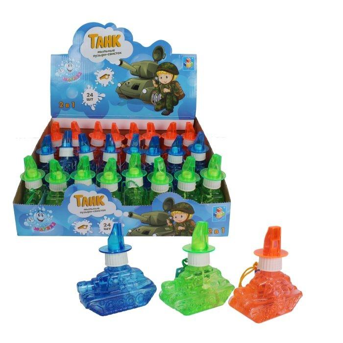 Мыльные пузыри 1 Toy Мы-шарики Мыльные пузыри в виде танка со свистком 80 мл мыльные пузыри 1 toy мы шарики мыльные пузыри в виде танка со свистком 80 мл