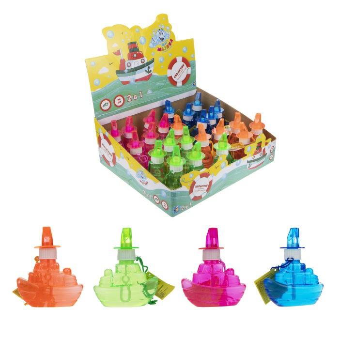 Мыльные пузыри 1 Toy Мы-шарики Мыльные пузыри в виде кораблика со свистком 80 мл мыльные пузыри 1 toy мы шарики мыльные пузыри в виде танка со свистком 80 мл