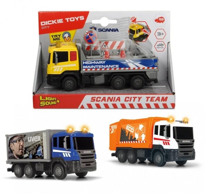 Машины Dickie Городская техника Scania кабина die-cast 17 см