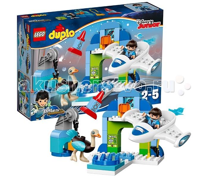 Конструктор Lego Duplo 10826 Лего Дупло Стеллосфера МайлзаDuplo 10826 Лего Дупло Стеллосфера МайлзаКонструктор Lego Duplo 10826 Лего Дупло Стеллосфера Майлза   Из деталей набора Лего 10826 Вы сможете построить настоящий космический ангар Майлза. Его главную часть занимает двухуровневый центр управления. Внизу располагается арочный проём и подиум с вращающимся элементом. Его очень удобно использовать, если необходимо рассмотреть летательный аппарат со всех сторон и сделать заключение о его повреждениях. Также для анализа и диагностики прекрасно подходит компьютер, на экране которого появляется вся информация о внешнем виде и параметрах исследуемого объекта.   Верхний уровень ангара напоминает собой капитанский мостик. Здесь есть стул и иллюминатор, через который видны планеты и летящие к ним космические корабли. Как и большинство ребят из будущего, Майлз следит за сообщениями учёных об открытии новых миров. Он с нетерпением ждёт, когда вырастит и сам отправится навстречу неизвестности.   А пока, он наслаждается путешествиями в пределах только что открытой галактики. Для этого он использует Стеллосферу – малый, но очень мощный звездолёт. Его обтекаемая кабина вмещает не только юного исследователя, но и его оборудование. Вытянутый корпус помогает развивать максимальную скорость, а симметричные белые крылья повышаю маневренность. Чтобы Стеллосфера не подвела во время экспедиции, Майлз внимательно следит за тем, чтобы все механизмы были исправны, а в баке был достаточный запас горючего. В такой сложной работе мальчику помогает его робот-страус по кличке Мерк.  В наборе Вы найдёте 2 фигурки: Майлз и Мерк, а также обучающие кубики с изображением компьютера, космоса и ракеты.  Размер ангара в собранном виде составляет 19х19х22, размер космического корабля – 17х15х2 см.  Количество деталей: 44 шт.<br>