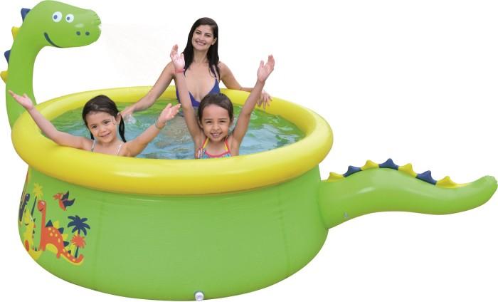 Купить Бассейны, Бассейн Jilong надувной Dinosaur 3D Spray 175х62 см