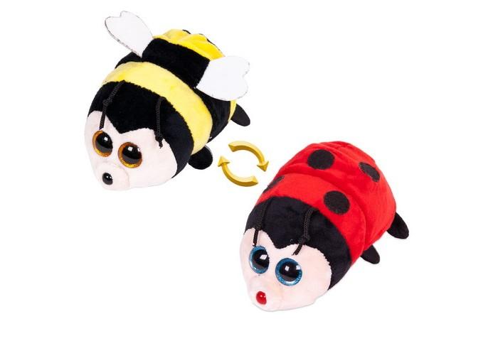 Мягкие игрушки ABtoys Перевертыши Пчелка-Божья коровка 16 см