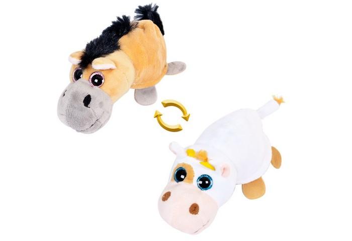 Мягкие игрушки ABtoys Перевертыши Лошадка-Корова 16 см