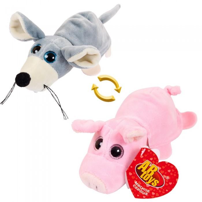 Мягкие игрушки ABtoys Перевертыши Мышка-Поросенок 16 см мягкая игрушка поросенок тошка 8 см