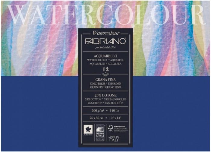Fabriano Watercolour Studio Альбом для акварели А3 260х360 мм 12 листов