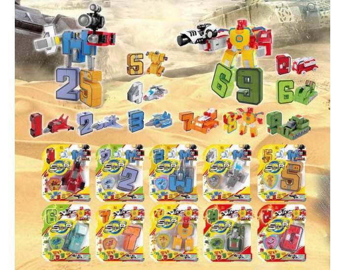 Роботы Junfa Робот-трансформер Изучаем цифры YB188-3Y