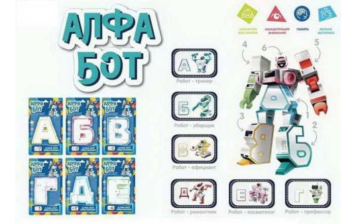 Роботы Junfa Робот-трансформер Алфа-бот серия Профессии