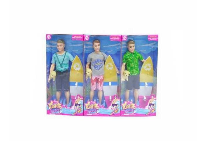 Куклы и одежда для кукол Junfa Кукла Сёрфер с аксессуарами куклы и одежда для кукол daisy набор кукла цветочек 9 см с аксессуарами и мопедом