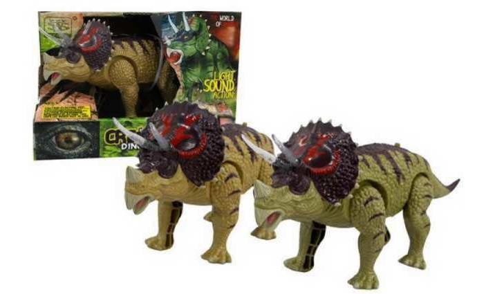 Купить Электронные игрушки, Junfa Динозавр Трицератопс со световыми и звуковыми эффектами