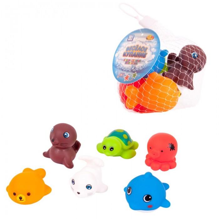 Игрушки для ванны ABtoys Веселое купание Набор резиновых морских обитателей (6 предметов)