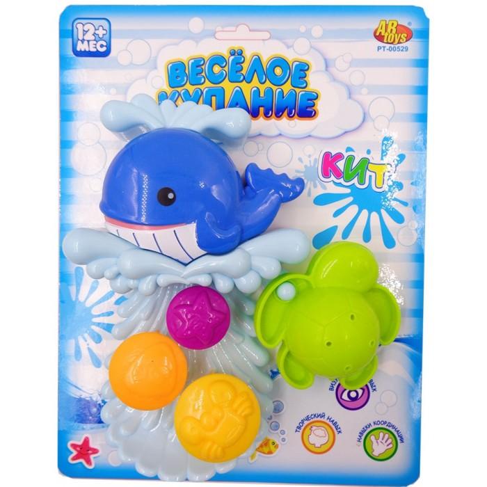 Игрушки для ванны ABtoys Веселое купание Кит-мельница с аксессуарами