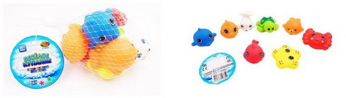 Игрушки для ванны ABtoys Веселое купание Набор резиновых морских обитателей (8 предметов)