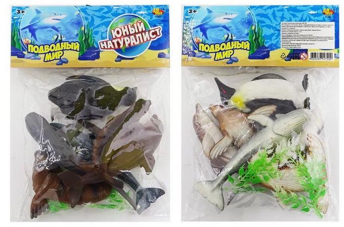 Игровые фигурки ABtoys Юный натуралист Фигурки морских животных 6 шт.