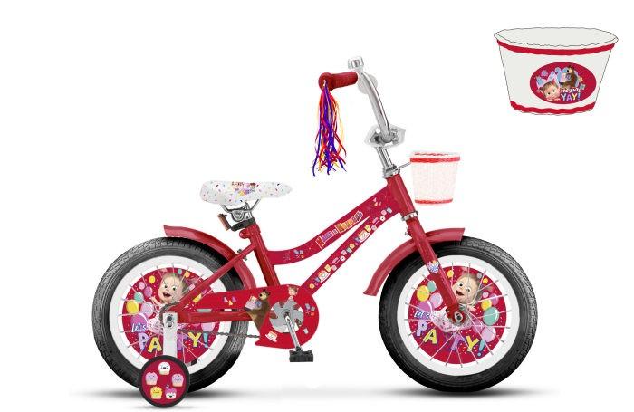 двухколесные велосипеды Двухколесные велосипеды Маша и Медведь колеса 16
