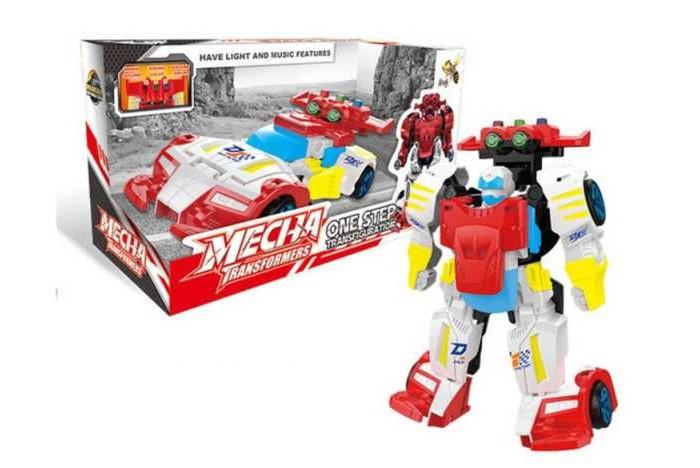 Роботы Junfa Робот-трансформер световые и звуковые эффекты D622-H047A город игр робот трансформер hot wings машинка жук