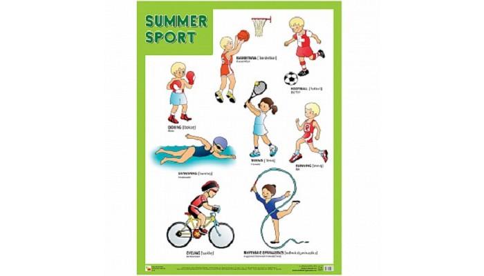 Обучающие плакаты Мозаика-Синтез Плакат Летние виды спорта