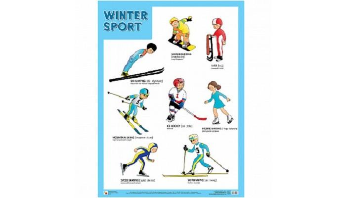 Обучающие плакаты Мозаика-Синтез Плакат Зимние виды спорта