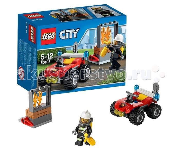 Lego Lego City 60105 Лего Город Пожарный квадроцикл квадроцикл ввт красно черный