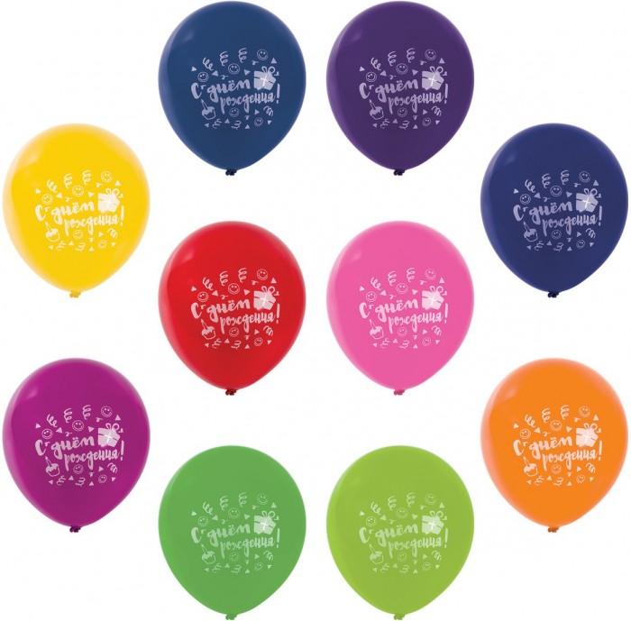Товары для праздника Золотая сказка Шары воздушные C днем рождения 30 см 10 цветов 50 шт. action шары воздушные с днем рождения 30 см 50 шт