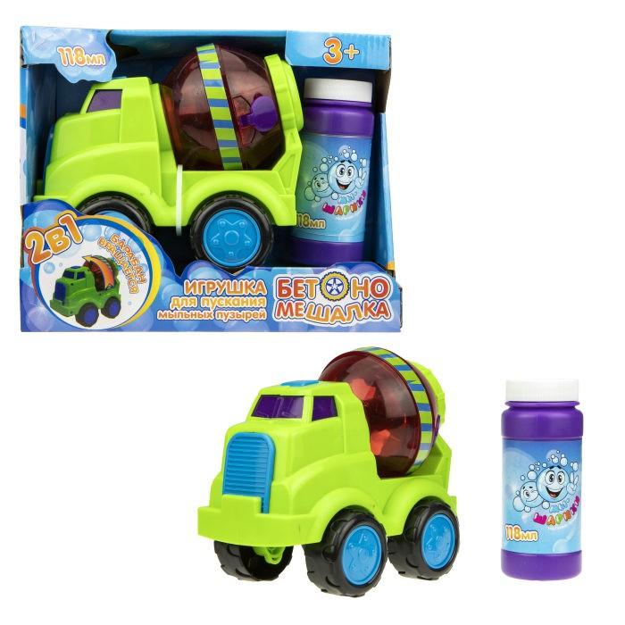 1 Toy Мы-шарики Игрушка для пускания мыльных пузырей Бетономешалка 118 мл от 1 Toy