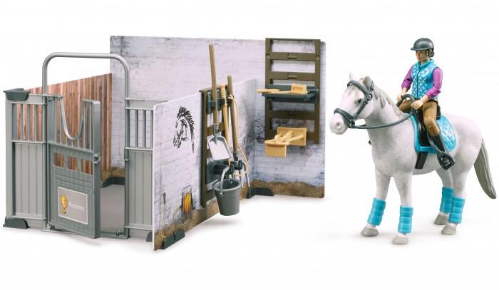 игровые наборы Bruder механический складской погрузчик со складскими аксессуарами и фигуркой