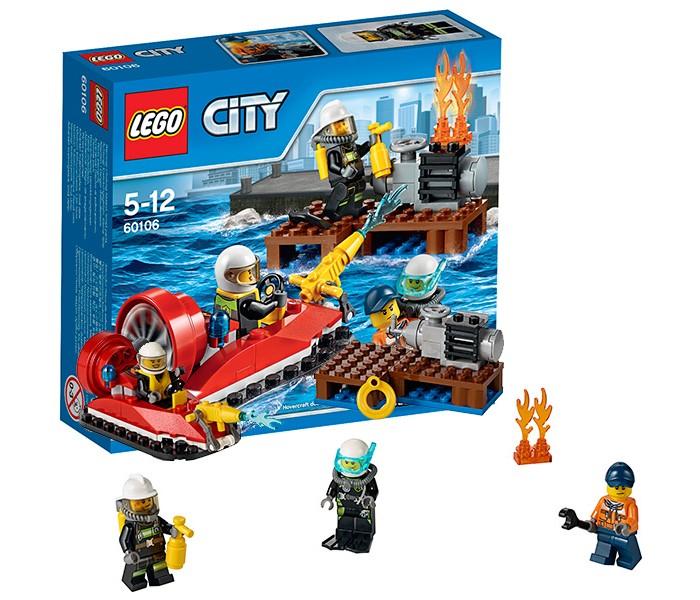 Lego Lego City 60106 Лего Город Набор для начинающих Пожарная охрана lego city пожарная часть