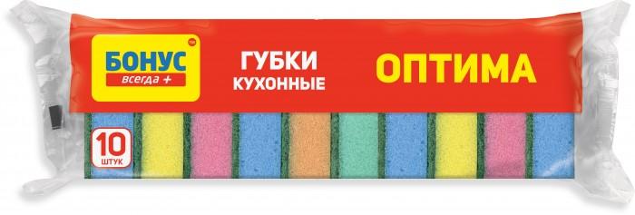 Хозяйственные товары Бонус Губки кухонные 10 шт.