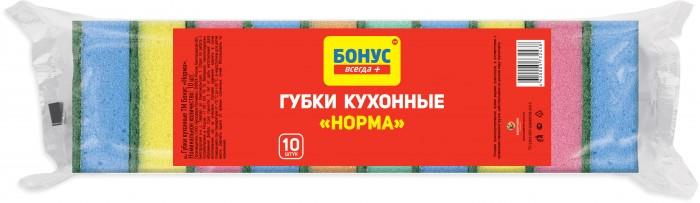 Хозяйственные товары Бонус Губки кухонные Норма 10 шт.