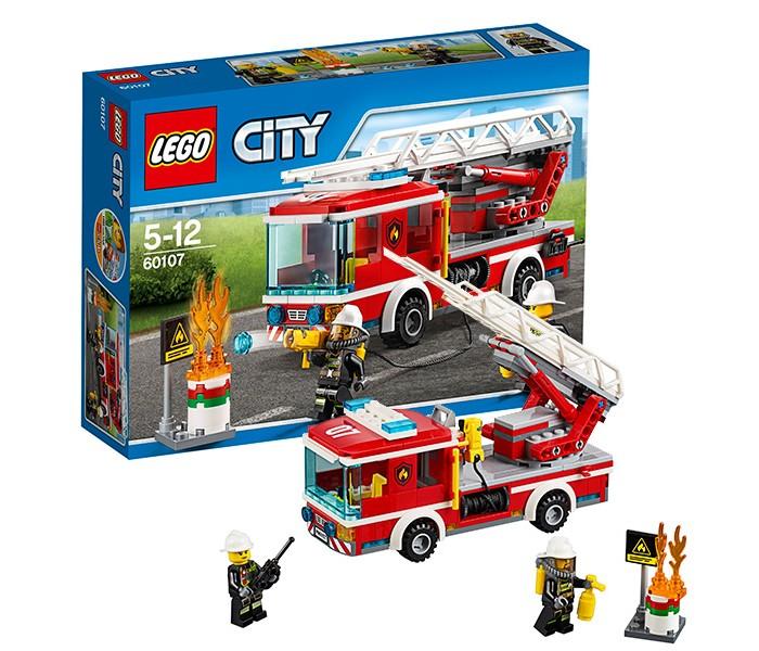 Lego Lego City 60107 Лего Город Пожарный автомобиль с лестницей lego city 60107 пожарный автомобиль с лестницей