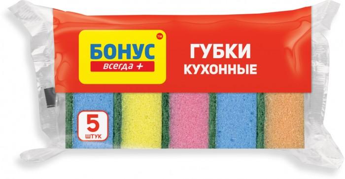 Хозяйственные товары Бонус Губки кухонные 5 шт.