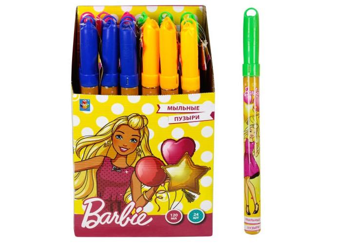 Мыльные пузыри Barbie Мыльные пузыри колба в термоплёнке 120 мл