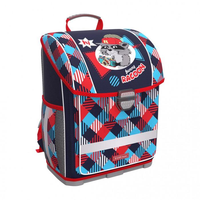 Купить Школьные рюкзаки, Erich Krause Ученический ранец с пластиковым дном ErgoLine Funny Racoon