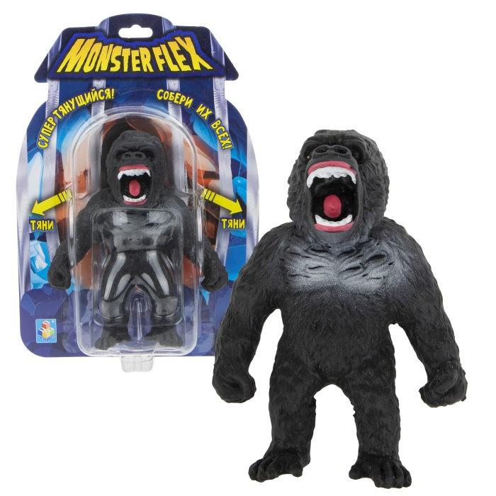 Игровые фигурки 1 Toy Monster Flex Горилла тянущаяся фигурка 15 см 1toy тянущаяся фигурка 1toy monster flex полярный медведь