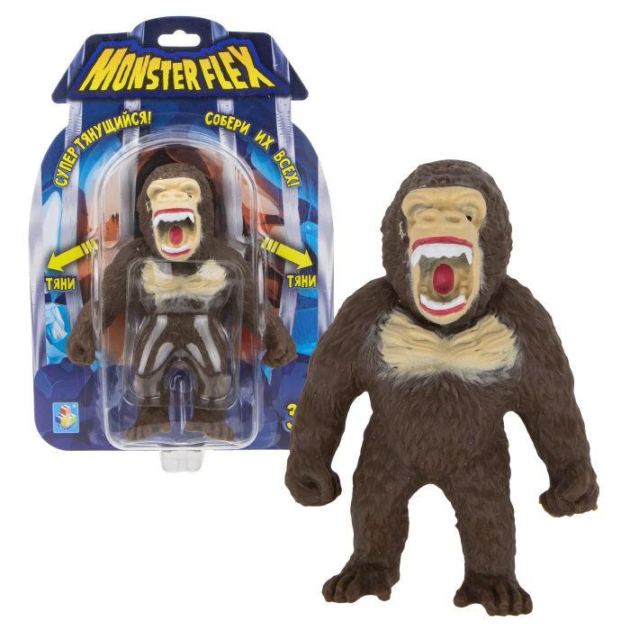 Игровые фигурки 1 Toy Monster Flex Орангутан тянущаяся фигурка 15 см 1toy тянущаяся фигурка 1toy monster flex полярный медведь
