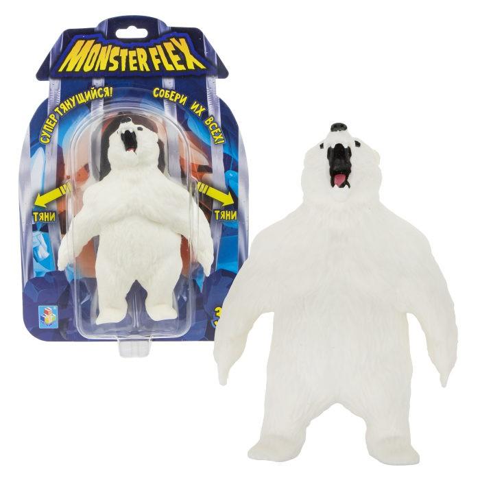Игровые фигурки 1 Toy Monster Flex Полярный Медведь тянущаяся фигурка 15 см 1toy тянущаяся фигурка 1toy monster flex полярный медведь