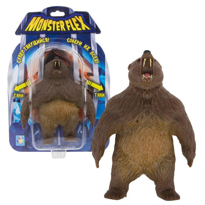 Игровые фигурки 1 Toy Monster Flex Гризли тянущаяся фигурка 15 см 1toy тянущаяся фигурка 1toy monster flex полярный медведь