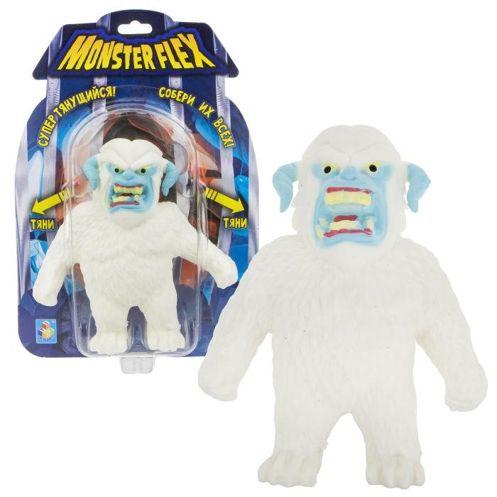 Игровые фигурки 1 Toy Monster Flex Йети тянущаяся фигурка 15 см 1toy тянущаяся фигурка 1toy monster flex полярный медведь