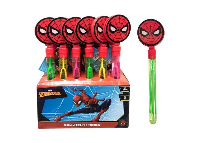 Мыльные пузыри Марвел (Marvel) Мыльные пузыри колба с трещоткой Человек-паук 60 мл