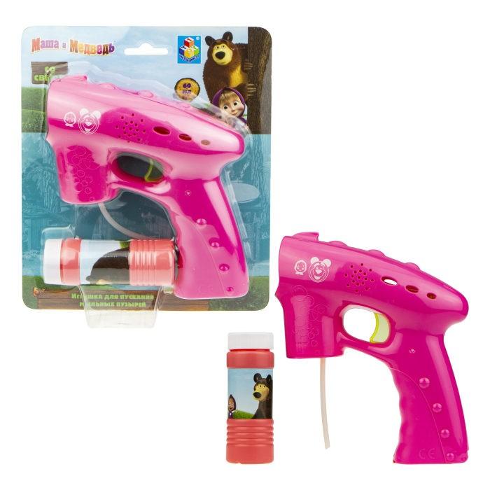 цена на Мыльные пузыри Маша и Медведь Мыльный пистолет 60 мл