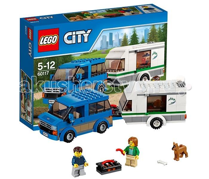 Lego Lego City 60117 Лего Город Фургон и дом на колёсах lego lego city фургон и дом на колёсах
