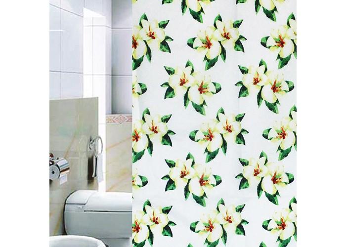 Шторы для ванны SweetSun Штора для ванной комнаты полиэстер 06903-8 180х200 см штора для ванной joyarty глаз в цветочном узоре 180х200 sc 19372