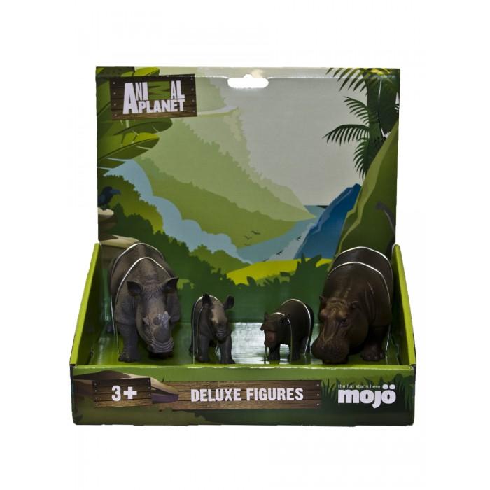 Игровые фигурки Mojo Набор фигурок Animal Planet L: Носороги и Гиппопотамы mattel my mini mixi q s dwr15 набор из 3 фигурок page 8
