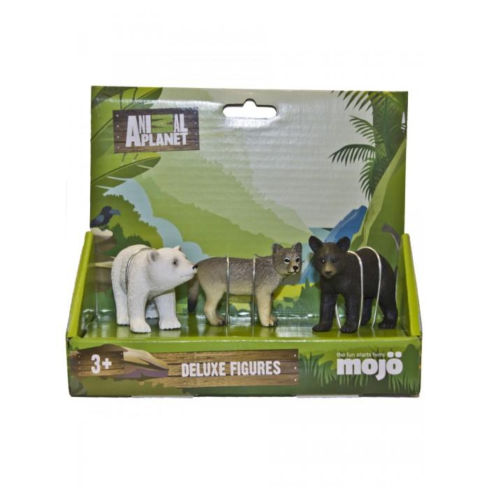 Купить Игровые фигурки, Mojo Набор фигурок Animal Planet M: Медвежонок Барибал S, Волчонок S, Белый медвежонок S
