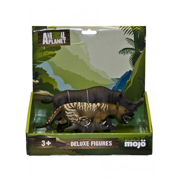 Игровые фигурки Mojo Набор фигурок Animal Planet L: Бронтотерий XXL, Гиенодон XL, Трицератопс брелок
