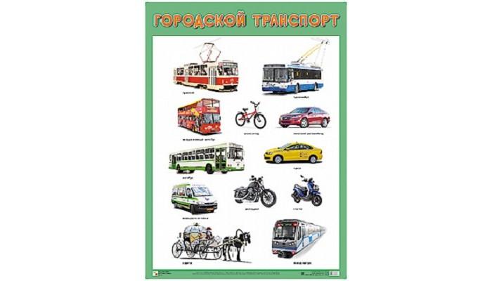 Фото - Обучающие плакаты Мозаика-Синтез Развивающий плакат Городской транспорт альбом наклеек городской транспорт